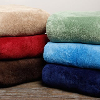 Solid Microplush Throw Blanket