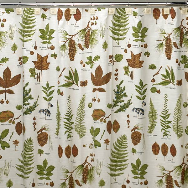 Northwoods Cotton Shower Curtain and Hook Set