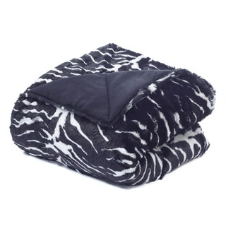 Tiger Faux Fur Plush Throw