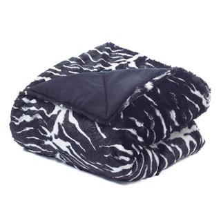 Tiger Faux Fur Plush Throw
