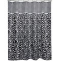 Waverly Esmee Black and White Shower Curtain