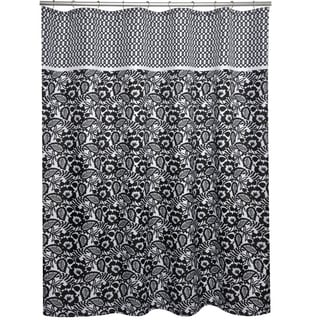 Esmee Black and White Shower Curtain