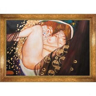 Gustav Klimt 'Danae' Hand Painted Framed Canvas Art