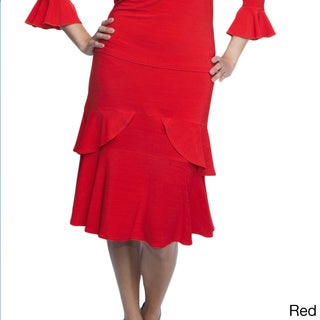Shining Star Women's Tiered Ruffle Skirt