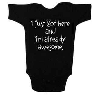Unique Boutique Baby Black T-shirt Onesie in Black