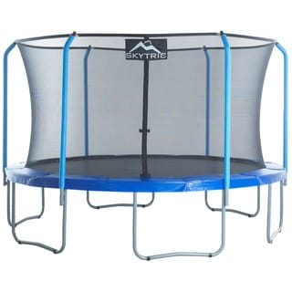 Skytric Easy-Assemble Trampoline with Top Ring Enclosure