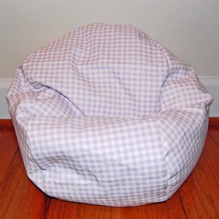 Ahh Products 14-Inch Check Gingham Cotton LiL Me Bean Bag Chair for Dolls