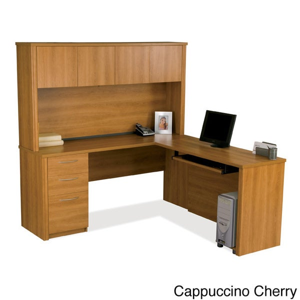 Bestar Embassy 3-drawer L-shaped Workstation Kit