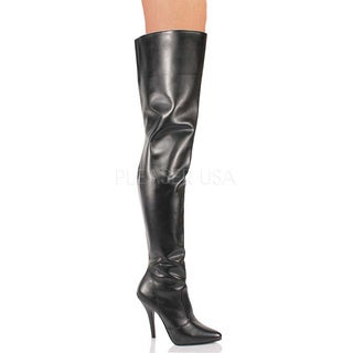 Pleaser Women's SEDUCE-3010 5-inch Stiletto Heel Classic Plain Thigh High Boots