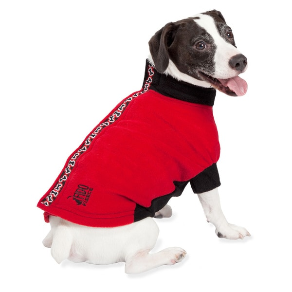 Petsafe Fido Fleece Red Bones Dog Jacket
