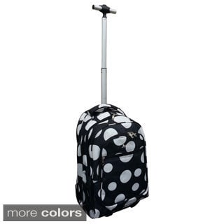 Jourdan Polka Dot Rolling Carry On Laptop Upright Backpack
