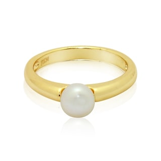 Junior Jewels Gold Overlay Children's Pearl Ring (4.5-5 mm)