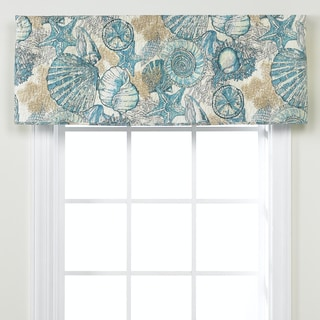 Brushed Ashore Blue Cotton Window Valance