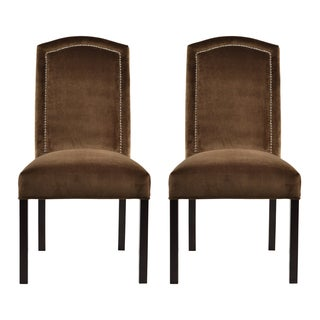 Como Bark Camelback Back Nail Dining Chairs (Set of 2)