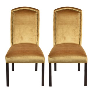 Tuscany Antique Camelback Back Nail Dining Chairs (Set of 2)