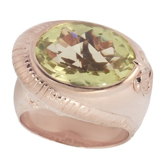 Dallas Prince Rose Gold over Silver Oro Verde and Diamond Ring