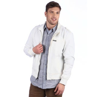 Members Only Men's White Nylon Original Racer Jacket