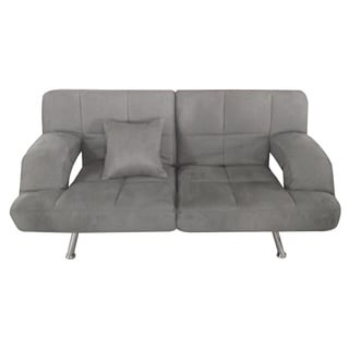 Grey Microsuede Sofa Bed