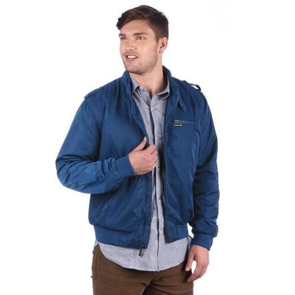 Members Only Men's Estate Blue Wind Racer Jacket