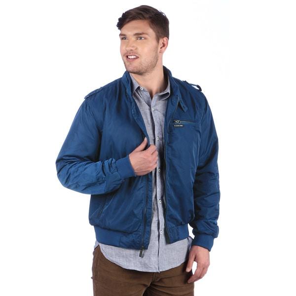 Members Only Men's Estate Blue Wind Racer Jacket