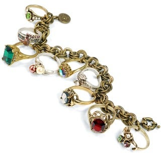 Sweet Romance Antique Rings Charm Bracelet