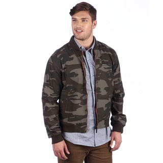 Members Only Men's Olive Camo Baseball Jacket