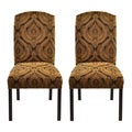 Hissy Fit Black Camelback Nail Trim Dining Chairs (Set of 2)