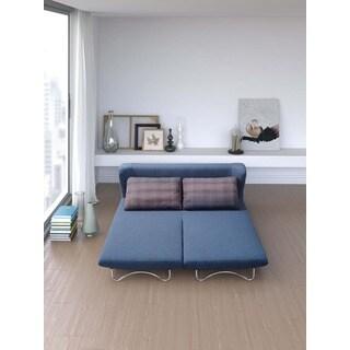 Conic Blue Sofa Sleeper and Grid Pattern Cushions