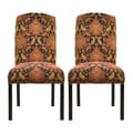 Adana Raisin Camelback Nail Trim Dining Chairs (Set of 2)
