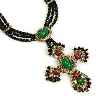Sweet Romance British Regalia Cross Necklace