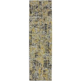 Karastan Panache Pixelated Creme Brulee Rug (2'4 x 8'3)