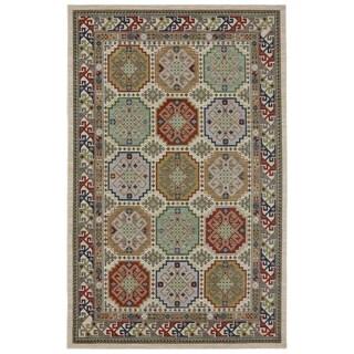 Woven Karastan Woolrich Briarcreek Ivory Wool Rug (8'6 x 11'6)