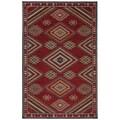 Woven Karastan Woolrich Founder's Point Garnet Wool Rug (3'3 x 5'6)