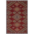 Woven Karastan Woolrich Founder's Point Garnet Wool Rug (8' x 10')