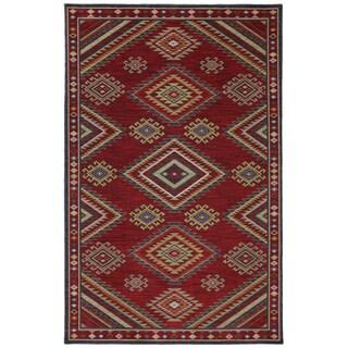 Woven Karastan Woolrich Founder's Point Garnet Wool Rug (8' x 10')