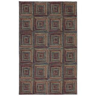 Woven Karastan Woolrich Sedgewick Black Wool Rug (8'6 x 11'6)