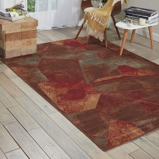 Nourison Somerset Multicolor Abstract Design Rug (3'6 x 5'6)