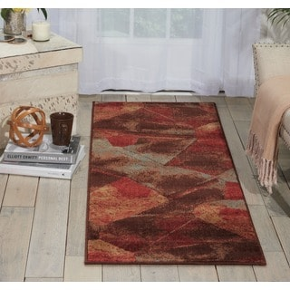 Nourison Somerset Multicolor Abstract Design Rug (2'3 x 8') Runner