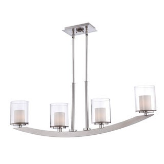 Quoizel Uptown Liberty 4-light Brushed Nickel Island Light