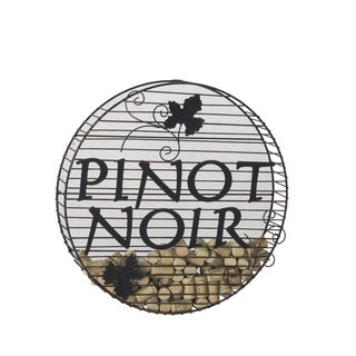 Elements 'Pinot Noir' 16-inch Wire Wall Cork Holder
