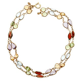14k Yellow Gold Multi-gemstone Bracelet