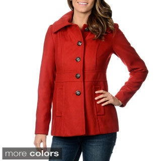 Kensie Women's Hooded Single Breasted Coat
