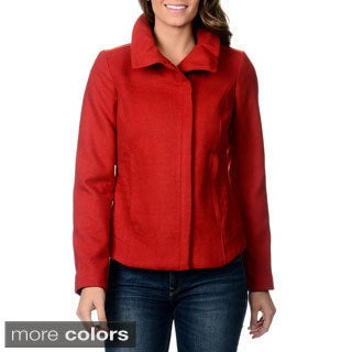Kensie Women's Zip Front Fashion Coat