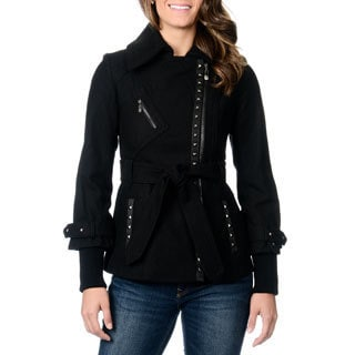 Kensie Women's Grommet Trimmed Coat