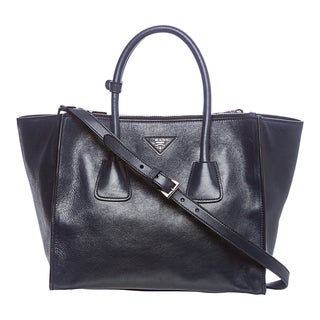 Prada BN2619 PEO F0216 Glace Calf Leather Tote
