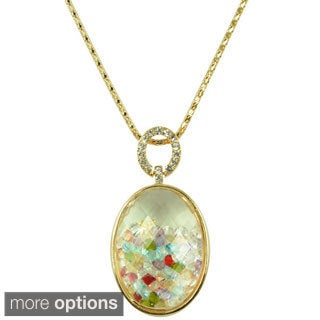 Kate Marie 'Becca' Sparkling Look Pendant Necklace