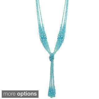 Kate Marie 'Christy' Arcrylic Beaded Knot Necklace
