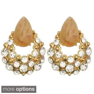 Kate Marie 'Gia Acrylic and Rhinestone Cluster Drop Earrings