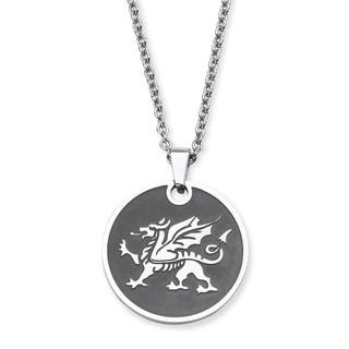 PalmBeach Men's Dragon Pendant Chain Necklace
