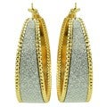 Kate Marie Gold and Silvertone 'Adele' Wide Hoop Earrings